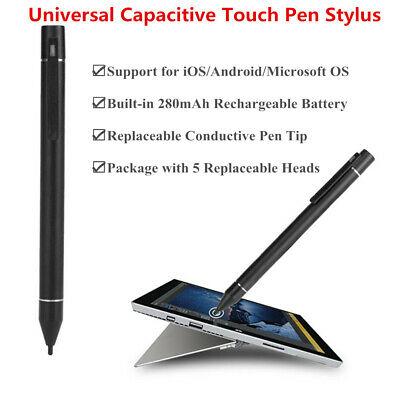Universal Thin Tip Capacitive Touch Pen Stylus For iPad iPhone Samsung Tablet