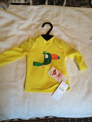 M&S Boys Yellow Swimming Top Age 3-6 Months