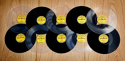 Elvis Presley - 2x SUN 78 repro editions 10x - rare mint 10 x 78 BLACK & CLEAR