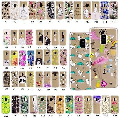 Rubber Silicone Transparent Phone Back Case Cover For Samsung Galaxy S8 S9 Plus
