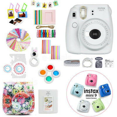 Fujifilm Instax Mini 9 Instant Photo Camera+Accessory Kit-Case+Album+Filter etc.