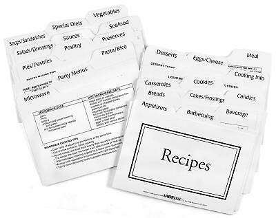 Recipe Card Divider 3-By-5-Inch Set New