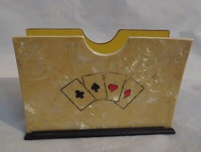 Vintage Antique Lucite Holder For Playing Cards Deck