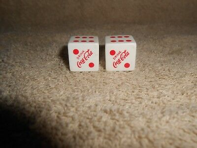 Vintage Drink Coca-Cola Red and white Dice