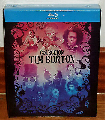 Collection Tim Burton Lot 9 Disques Blu-Ray Neuf Scellé (sans Ouvrir) R2