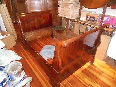 Beautiful Antique French Country Mahogany Empire Style Day Bed