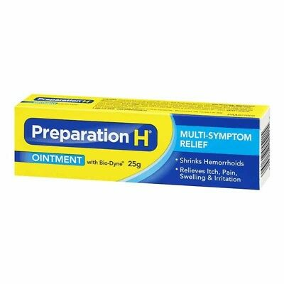 Made in Canada - Preparation H - OINTMENT with Bio-Dyne 25g New