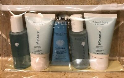 Crabtree & Evelyn 5 Piece Gift Set LA SOURCE  Travel sized bath GIFT!