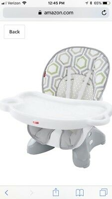 Fisher-Price SpaceSaver High Chair, Geo Meadow Space Saver Unisex Feeding Baby