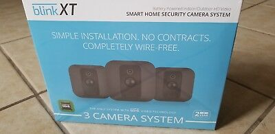 Home Security 3 Camera System For Smartphone Blink XT Motion Detection HD Video