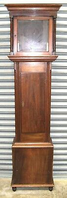 A Good Old Mahogany Grandfather Clock Case - To Suit 12 inch Dial.