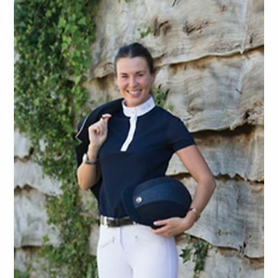 Mark Todd Alicia Ladies Competition Polo Shirt Navy 3 Sizes