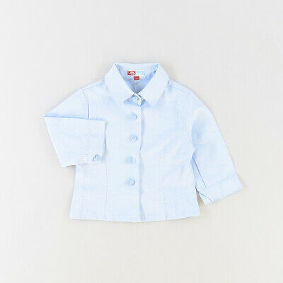 Camisa color Azul marca The First outlet 12 Meses  514682