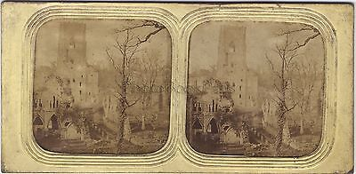 Abbey of Fountains UK Ruins of fountains Abbey Stereo Diorama Vintage Albumin