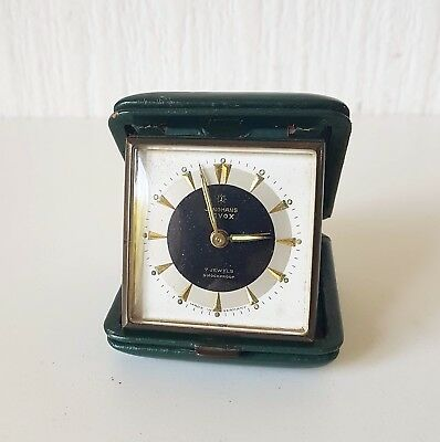 Vintage Mid 20Th Century German Junghans Vox 7 Jewel Travel Alarm Clock