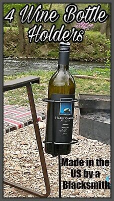 4 Outdoor Stakes for Wine Bottle / Drink Holder Handmade in US by Blacksmith