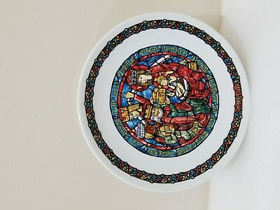 """noel Vitrail""christmas Plate Collection By De Limoges France"