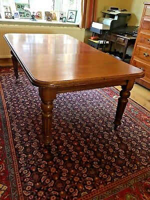 circa 1870 MAHOGANY EXTENDING DINING TABLE WINDING MECHANISM ANTIQUE VICTORIAN