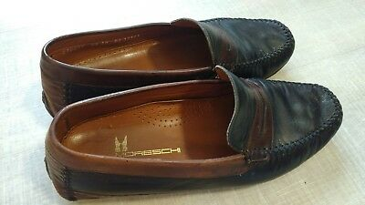 657984d5000 MENS SIZE 10 Moreschi Black and brown Italian Made Leather Loafers ...
