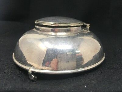 Thomas Wilkinson & Sons Birmingham Silver Plated Footed Inkwell 4497