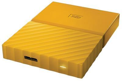 WD Western Digital HDD 2TB My Passport Yellow USB3.0 Fast External Hard Drive *<