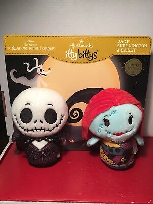 Hallmark Itty Bitty Bittys JACK SKELLINGTON & SALLY Nightmare Before Christmas