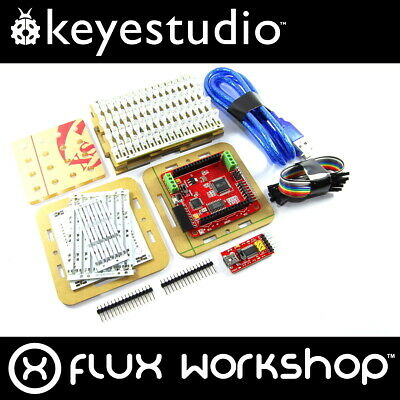 Keyestudio 4x4x4 RGB LED Cube Kit KS-177 Colorduino Arduino DIY 64 Flux Workshop