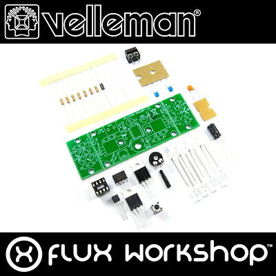 Velleman Two-Channel Hi-Power LED Flasher Mini Kit MK180 DIY Flux Workshop