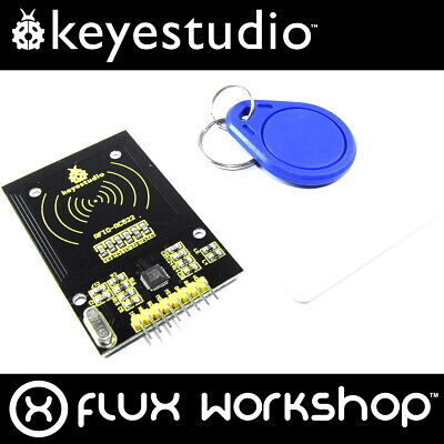 Keyestudio MFRC-522 RFID Set KS-067 IC 13.56MHz card key fob SPI Flux Workshop