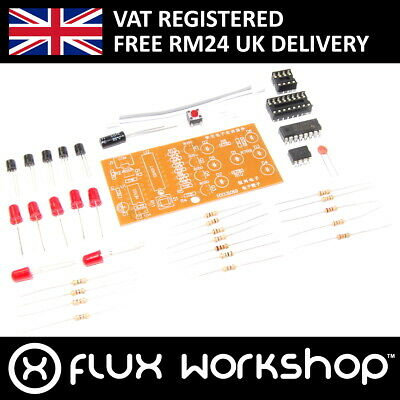 6 LED Dice DIY Kit Unsoldered 5V NE555 CD4017 Dice Soldering Flux Workshop