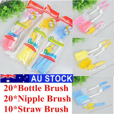 50pcs Sponge Brush Bottle Cleaner Tool Cup Baby Nipple Glass Cleaning Kitchen