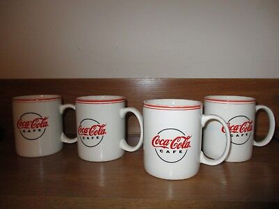 4 Coca Cola Cafe Coffee Mugs by Gibson