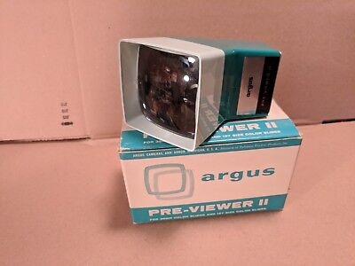 Argus Previewer II Slide Projector Color Slides Original Box Vintage Photo Film!