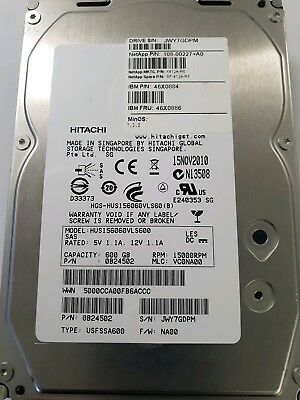 NetApp 600GB 15K SAS  HDD 46X0886  X412A-R5 108-00227+A0 NO CADDY Hitachi