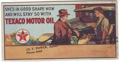 Texaco motor oil ink blotter - She's in good shape now, Taunton, MA