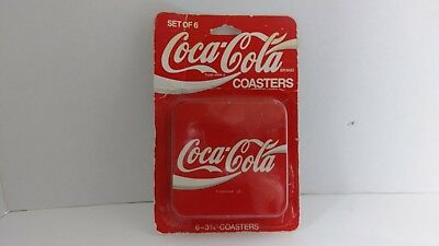 Vintage coca cola coasters set of 6 still in package