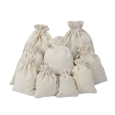 1x Beige Drawstring Bags Storage Drawstring Calico Bags Linen Big Tote Bag Kit