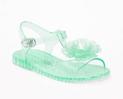 f4dc6dd75b51 Old Navy Flower Jelly Sandals For Toddler Girls Mint Aqua Green Size 7