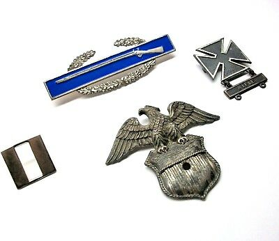 US Military STERLING SILVER Eagle, Riffle, & More Vintage Mixed Lot of 4 Items
