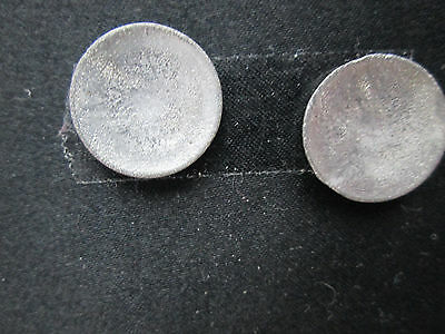 2 Dollhouse Miniature Unfinished Metal Modern Plate 15//16/""