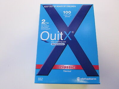 Quitx - Stop Smoking Aid Gum 2Mg - 100 Pieces - Classic - Exp 06/2019