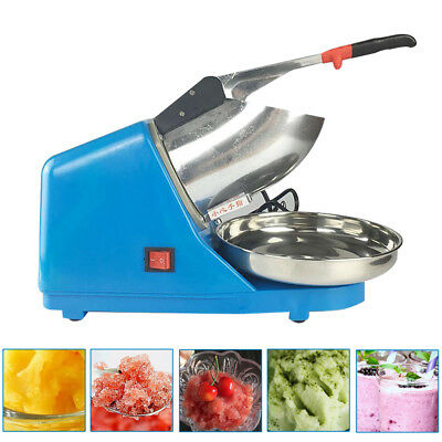 110V Electric Ice Shaver Machine Snow Cone Maker Crusher Shaving Summer Tools