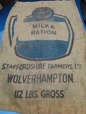"Vintage Hessian Sack, Large Original  39"" ×  24"""