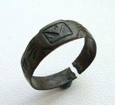 Old Ornament Bronze Ring M