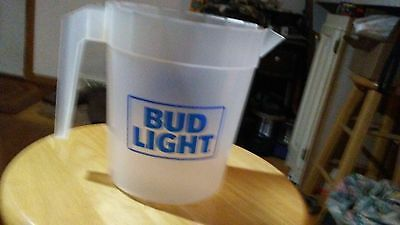 """Lot of 2 Coors Light or Bud Light or Budweiser Beer 48-Ounce Plastic Pitcher 6"""""""