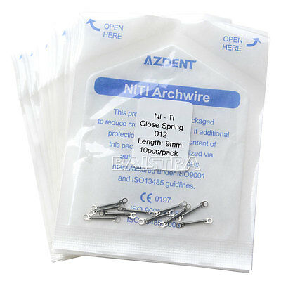 """5 pack Orthodontic Dentaire Niti Closed Coil Spring Constant Force 0.012""""*9mm FR"""