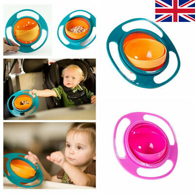 Baby Boy Girl Kids Children Universal 360° Degree Rotate Spill-Proof Bowl Dishes
