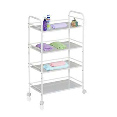4 Shelf Large Beauty Salon Trolley Cart Storage Dentist Wax Tattoo Treatment