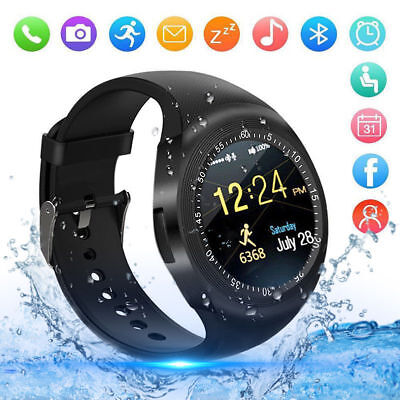 Y1 Bluetooth Montre Connectée SIM Intelligente Podomètre GPS pour iOS Android