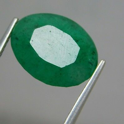 Natural 6.70 Ct Oval Cut Colombian Loose Emerald Gemstone. 11042 ERT